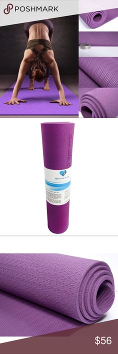 "Eco-Friendly Non-Slip TPE Yoga Mat  * 72"" long x 24"" wide x 8mm thick