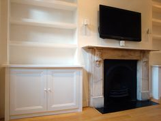 Alcove shelving and cabinet