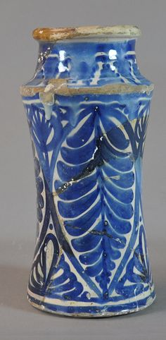pharmacy jar, 16th century Valencia Inventario: FC.1994.02.628