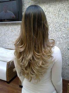 cabelo com ombre hair loiro
