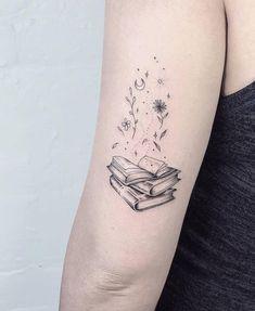 Awe-inspiring Book Tattoos for Literature Lovers - KickAss Things - beautiful book tattoo designs ©️️ tattoo artist NW / Laura Martinez 💟📚💟📖💟📚💟 Great Tattoos, Mini Tattoos, Unique Tattoos, Beautiful Tattoos, Body Art Tattoos, Small Tattoos, Tatoos, Awesome Tattoos, Arm Tattoos