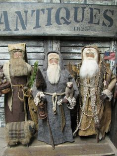Olde Thyme Santa's by Folk Artist Sue Corlett. Follow me on Facebook for Sunday update info!