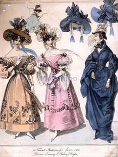 Abbigliamento femminile - Accessori - Cappelli femminili - 1830 Abiti e cappelli femminili