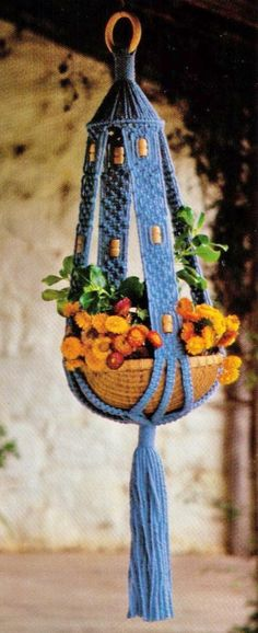 VINtAGE 1970's MaCRAME HaNGING POt PlanT by Crafting4Ever2013, $2.00   INSTANT DOWNLOAD MACRAME PATTERN