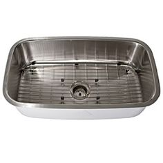 Highpoint Collection Stainless Steel Single Undermount Kitchen Sink With Bottom Grid | Overstock.com Shopping - The Best Deals on Kitchen Sinks PERFECT!!