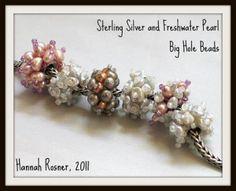 Free Beading Tutorial http://goodrivergallery.wordpress.com/2011/12/13/free-beading-tutorial-bead-encrusted-big-hole-bead/