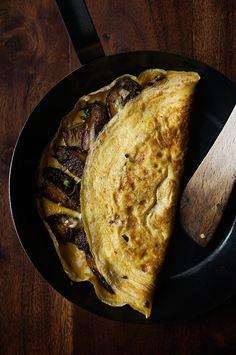 omelette aux cèpes - recette facile