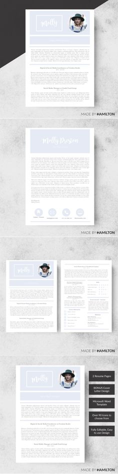Tone Resume Template + Cover Letter Resume Templates Pinterest - cover letters for a resume