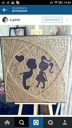 ~ Pin on Fun Crafts ~ Craft Ideas To Do With Toddlers Nail String Art, String Crafts, Arte Linear, String Art Patterns, Thread Art, Pin Art, Diy Wall Art, Cute Crafts, Pattern Art
