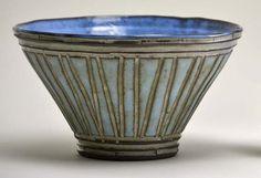 Boyan Pottery - Large Blue Bowl