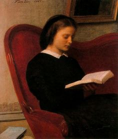 The Reader, (Marie Fantin-Latour, the Artist's Sister) Henri Fantin-Latour. (1836 - 1904)