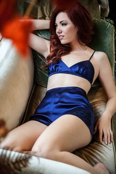 Louisa tap pants- navy dark blue silk satin charmeuse French lace shorts for sleep or lounge wear, lace applique luxury lingerie tappants