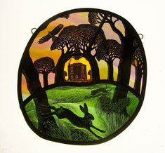 """Raycomb House"" by stained glass artist Tamsin Abbott"