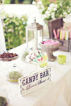 A candy shop party? And instead of just one 'candy bar', you could have chocolates, popcorn, cakes...