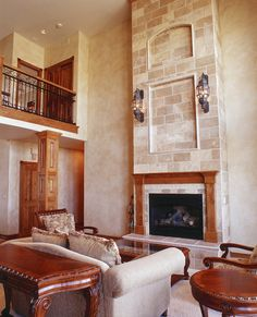 Towering fireplace in this great room makes a statement! Plan 101S-0006 | House Plans and More