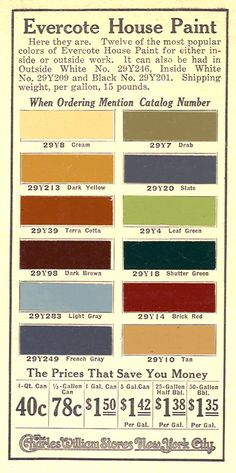 1900 house paint colors - Google Search