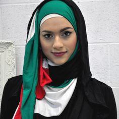 AJMAAN Palestinian Jersey Hijab