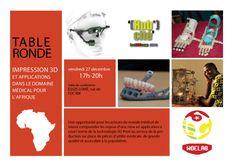 Table ronde sur l'impression 3D et son application à la médecine en Afrique
