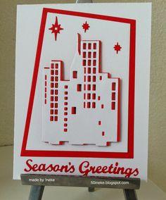 Scraps & !neke: Januari en toch weer een kerstkaart !