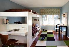 Dormitorio moderno juvenil.