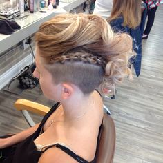 Undercut and updo by our stylist Alison