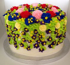 Birthday Cake for mom (side view)