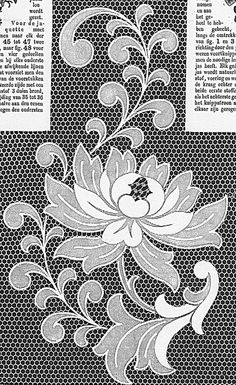 . Cutwork Embroidery, Embroidery Patterns Free, Hand Embroidery Designs, Lace Patterns, Vintage Embroidery, Machine Quilting, Machine Embroidery, Point Lace, Lace Making