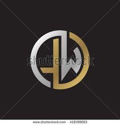 stock-vector-lw-initial-letters-looping-linked-circle-elegant-logo-golden-silver-black-background-418199083.jpg (450×470)