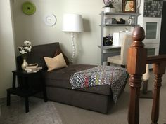 My chaise lounge in the sewing nook...one of my fav corners.