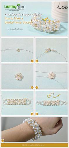 How to Make a Beaded Flower Bracelet
