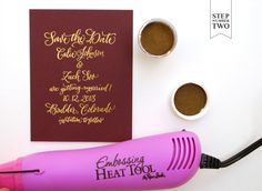 gold dot2 copy 550x402 DIY Tutorial: Fig & Gold Calligraphy Save the Date