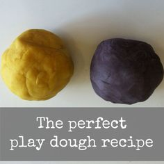 Perfect, easy play dough recipe and it smells great.
