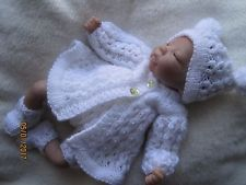 """Doll booties fitting 10/"""",11/',12/' and 13/"""" micro preemie doll w//bell"""