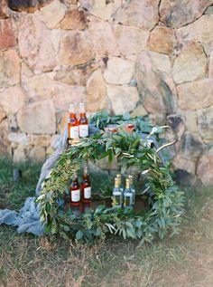 Greenery bar cart: Photography: Amelia Johnson Photography - amelia-johnson.com/home   Read More on SMP: http://www.stylemepretty.com/2017/03/01//