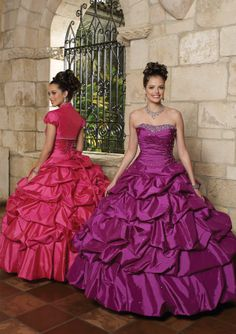 Beaded Taffeta - Matching Bolero Bridesmaids Dresses(HM0598)