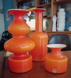 Vases Carnaby, Holmegaard, Danemark, 1957. Vevey, Vintage Design, Boutique, Denmark, Boutiques