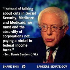 It's time for tax reform! Corporations should pay their fair share! #Bernie2016 #BernieSanders #FeelTheBern