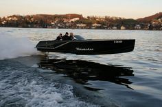 """Frauscher 717 GT is THE """"gentlemen's racer"""". The boat's shape is a recollection of the exclusiv twenties; exceptional """"deep V"""" hull offers top comfort and safety thanks to his sharp bow, and at the same time fills with joy and exciting sprint your sport boats' feelings up."""