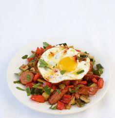 Zucchini-Cabanossi-Pfanne