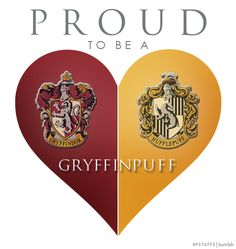 I have A LOT OF HUFFLEPUFF pins, so please check out my Geek - I am Hufflepuff {Harry Potter} board. PROUD TO BE A GRYFFINPUFF | hpstuffs.tumblr