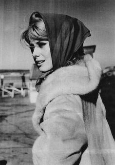 Mademoiselle Deneuve ~ haute headscarf & coat