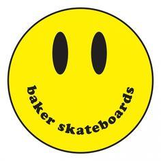 Baker Skateboards Baker Smiley Sticker