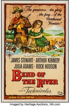 """Movie Posters:Western, Bend of the River (Universal International, 1952). One Sheet (27"""" X41""""). Western.. ..."""