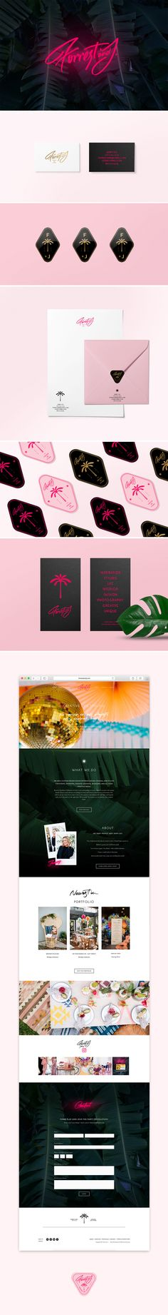 Brand Identity and Collateral Design for a Stylist / Forrest and J. by Cocorrina Collateral Design, Brand Identity Design, Corporate Design, Branding Design, Logo Design, Branding Ideas, Branding Agency, Business Branding, Business Card Design