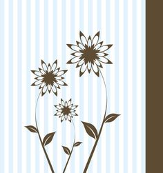 Classy Card, DryIcons.com. #stripes #flowers #card
