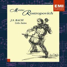 Mstislav Rostropovich - J. S. BACH : Cello-Suites.  Nos 1 - 6, 2 disc set.  Fabulous.