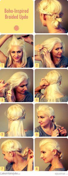 DIY Hair Idea: Boho-Inspired Braided Updo | Latest-Hairstyles.com