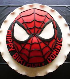 For Caroline's Spiderman party she says she's having when she turns 5.