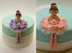 ballerina sugar models cake toppers by via A Beautiful Kitchen blog. Found on Cake Geek Magasine.
