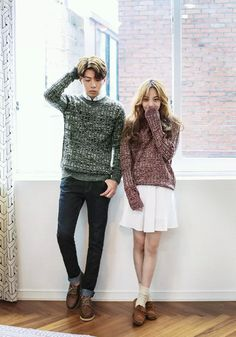 Find images and videos about kfashion, kstyle and ulzzang couple on We Heart It - the app to get lost in what you love. Korea Fashion, Asian Fashion, Look Fashion, Girl Fashion, Matching Couple Outfits, Matching Couples, Cute Couples, Ulzzang Couple, Ulzzang Kids